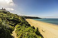 UK, England, Cornwall, St Ives, beach at Carbis Bay - THAF01834