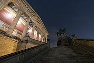 Germany, Berlin, Alte Nationalgalerie at night - SJ00184