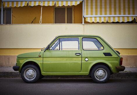 Italy, Apulia, Fiat 500 in Otranto - DIKF00216
