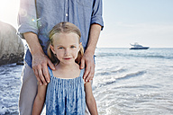 Father and daughter on the beach - RORF00363
