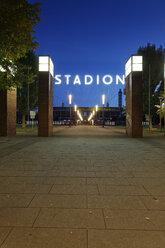 Germany, Cologne, view to Rhein Energie Stadium by night - GF00836