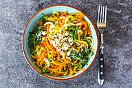 Garnished vegetable noodles in a bowl - SARF03015