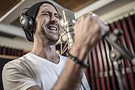 Singer at recording studio - ZEF10745