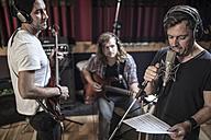 Band rehearsal in recording studio - ZEF10748