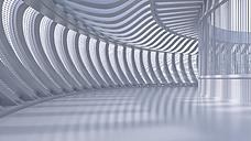 Empty hall in a modern building, 3D Rendering - UWF01038