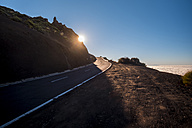 Spain, Tenerife, Teide National Park, Mountain road - SIPF00979