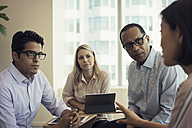 Business people in meeting having interesting discussion - WESTF21768