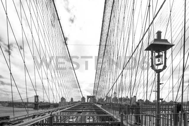 USA, New York City, part of Brooklyn Bridge - ZEF11109
