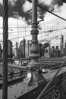 USA, New York City, part of Brooklyn Bridge with view to Manhattan - ZEF11112
