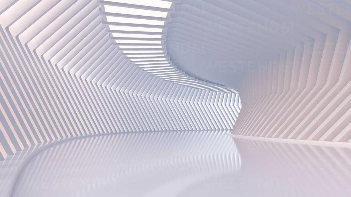 Empty hall in a modern building, 3D Rendering - UWF01053 - HuberStarke/Westend61