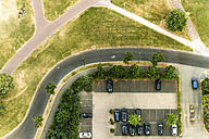 Germany, Duessseldorf, aerial view of a car park - TAMF00745