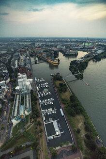 Germany, Duessseldorf, aerial view of Media Harbor - TAMF00748