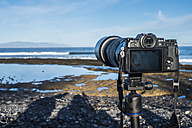 Spain, Tenerife, camera at Las Americas beach - SIPF01009