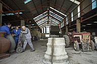 Men working in industrial pot factory - ZEF11352