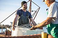 Fishermen working on trawler - ZEF11418
