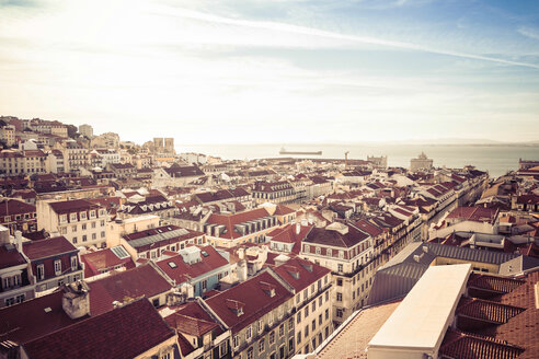 Portugal, Lisbon, cityscape with Tejo River in the background - CMF00597