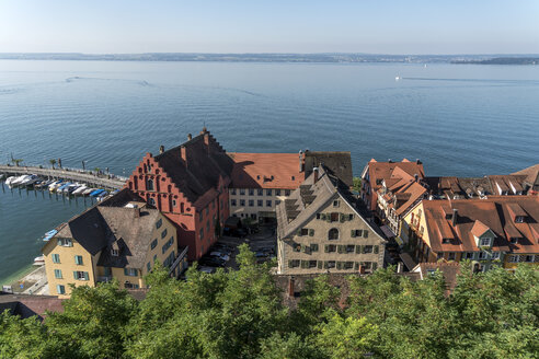 Germany, Meersburg, Lake Constance, harbour and lower city - PCF00300