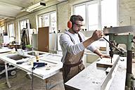Carpenter at work in his workshop - LYF00682