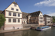 France, Strasbourg, Mooring area at Ill river in Petite France - WI03366