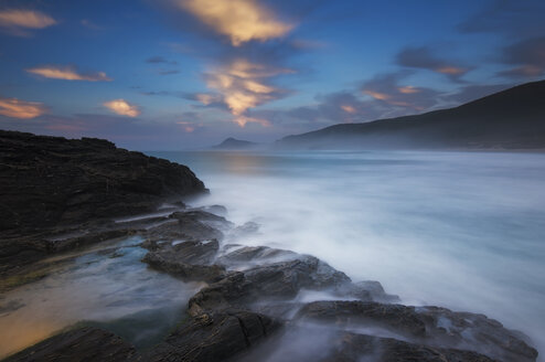 Spain, Ferrol, Long exposure at Ponzos beach - RAEF01535