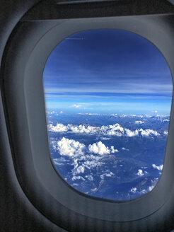 Clouds seen through airplane window - BMAF00297