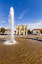 Germany, Potsdam, view to Brandenburg Gate with fountain in the foreground - WDF03766