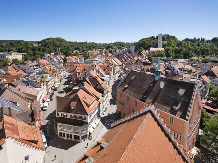 Germany, Baden-Wuerttemberg, Ravensburg, townscape as seen from Blaserturm - SIE07141