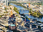 Germany, Frankfurt, view to the city from above - KRPF02002