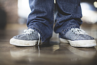 Close-up of man in sneakers - ZEF11706