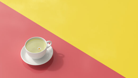 Cup of chamomile tea, 3d rendering - UWF01066