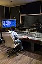 Musical recording in a recording studio - ABZF01544