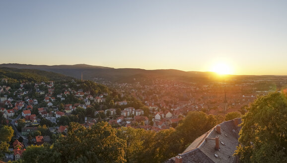 Germany, Saxony-Anhalt, Wernigerode at sunset - PVCF00914