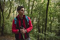 Hiker in forest - RAEF01568
