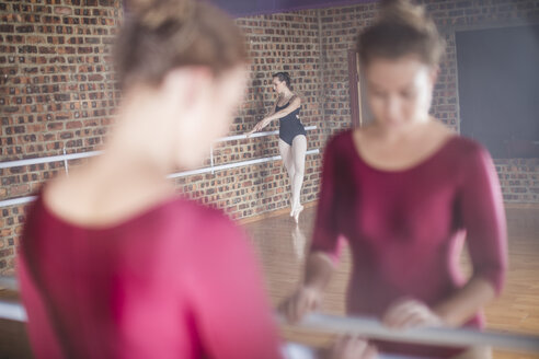 Ballet dancers exercising at studio - ZEF11765
