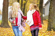 Two happy girls in autumn - MAEF12062