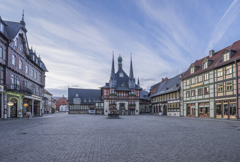 Germany, Wernigerode, view to town hall and market square - PVCF00947