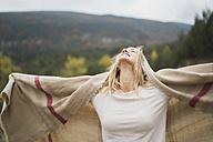 Young woman enjoying the nature - KKAF00099