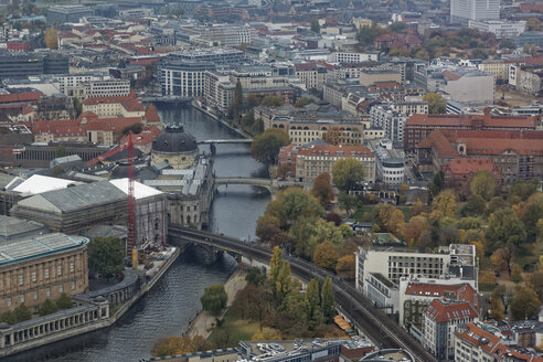 Germany, Berlin, Museumsinsel and Spree River seen from above - GFF00914