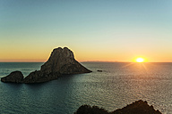 Spian , Ibiza, Es Vedra Island at sunset - KIJF01023