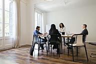 Business people having a team meeting in office - EBSF01914