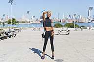 USA, New York City, Brooklyn, confident young woman - GIOF01666