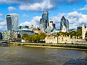 UK, London, cityscape with River Thames and The Gherkin - AMF05122