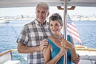 Smiling couple on a boat trip - WESTF22205