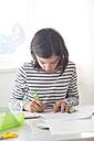 Girl doing homework - LVF05665