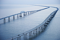 USA, Aerial photograph of the Chesapeake Bay Bridge Tunnel - BCDF00264