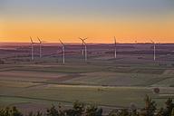 Germany, Bavaria, Franconia, Gunzenhausen-Wassertruedingen, wind park - SIEF07200