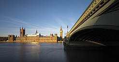 UK, London, Big Ben, Westminster Bridge and Palace of Westminster - MPAF00111