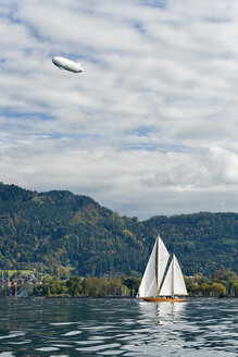 Austria, Bregenz, sailing boat on Lake Constance - SHF01903