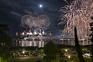 Germany, Constance, Lake Constance, fireworks at Seenachtsfest - SHF01912