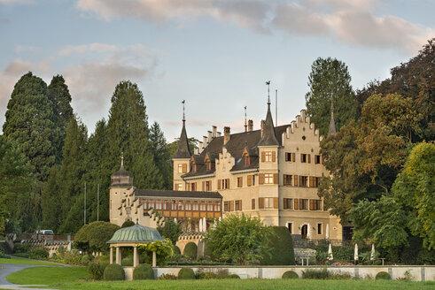 Switzerland, Thurgau, Kreuzlingen, Seeburg castle with pavilion - SH01915